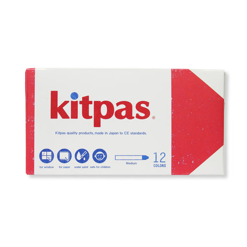 Kitpas Kitpas Window & Watercolour Crayons Pack of 12 2