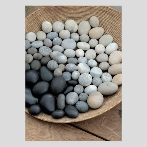 Langham Press Postcard Basket of pebbles, sitting room 1
