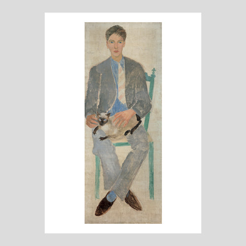 Langham Press Postcard Christopher Wood Boy with Cat (Jean Bourgoint) 1