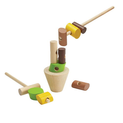 Little Concepts Plan Toys Stacking Logs 1