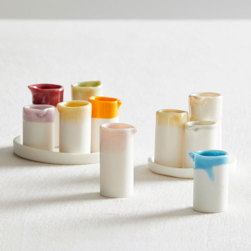 Naked Clay Ceramics Naked Clay Ceramics Set of 5 Vessels with Tray 1