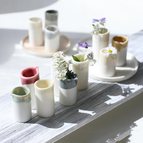 Naked Clay Ceramics Naked Clay Ceramics Set of 5 Vessels with Tray 2