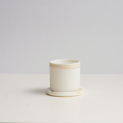 Naked Clay Ceramics Naked Clay Ceramics Small Handleless Cup & Saucer 1