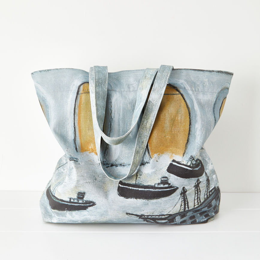 Paul Bristow Ltd Alfred Wallis Boats before a great bridge Tote Bag 2