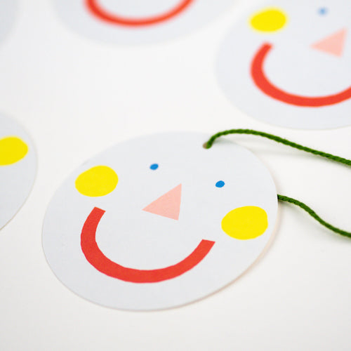 Hadley Pack of 5 Smiley Face Gift Tags