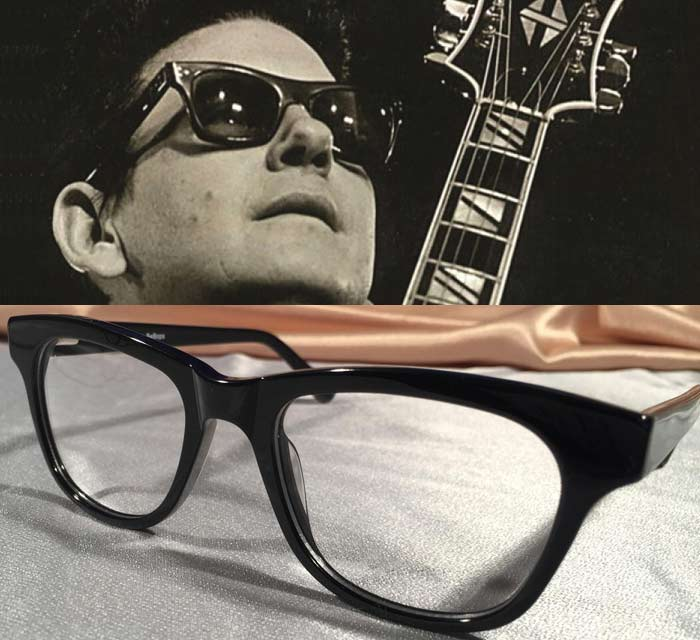 BeBops Glossy Black Eyewear with Roy Orbison
