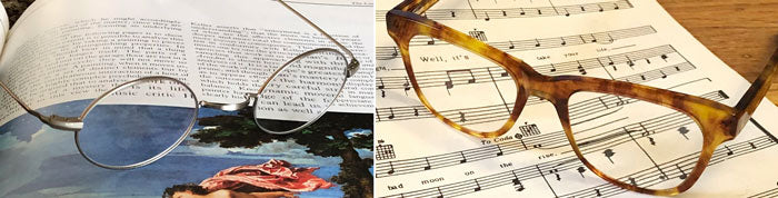 Oval Metal and Tortoise Shell Eyeglasses as Diopter Strength Readers