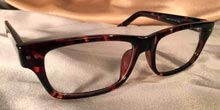 Gotham Eye Gear Glossy Black and Tortoise Shell Rectangular Eye Frames