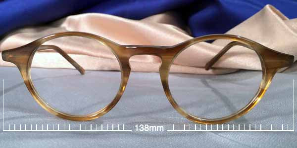 Wide Oval P3 acetate eye frames