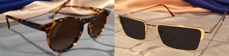 Tortoise Shell and Gold Metal Sunglasses