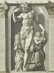 Illustration of the Roman god Bacchus, namesake for the eyeglass frames