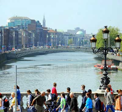 View of the River Liffey in Dublin, Ireland