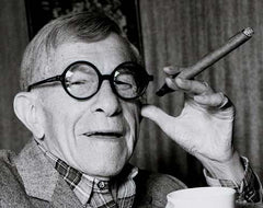 George Burns with round black glasses