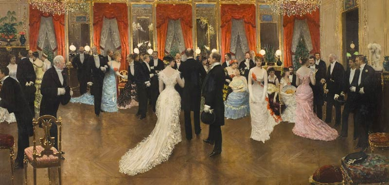A Painting of a Gilded Age Ball and Fashion