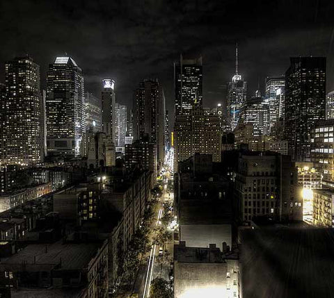 New York City night scene
