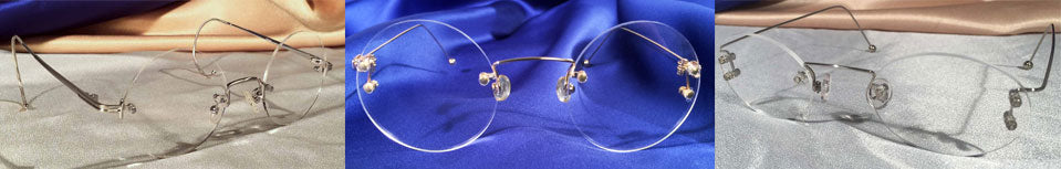 Various Styles of Rimless Eyeglasses