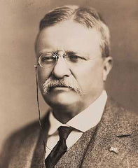 Teddy Roosevelt wearing eyeglasses