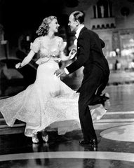 Fred Astaire and Ginger Rogers dancing