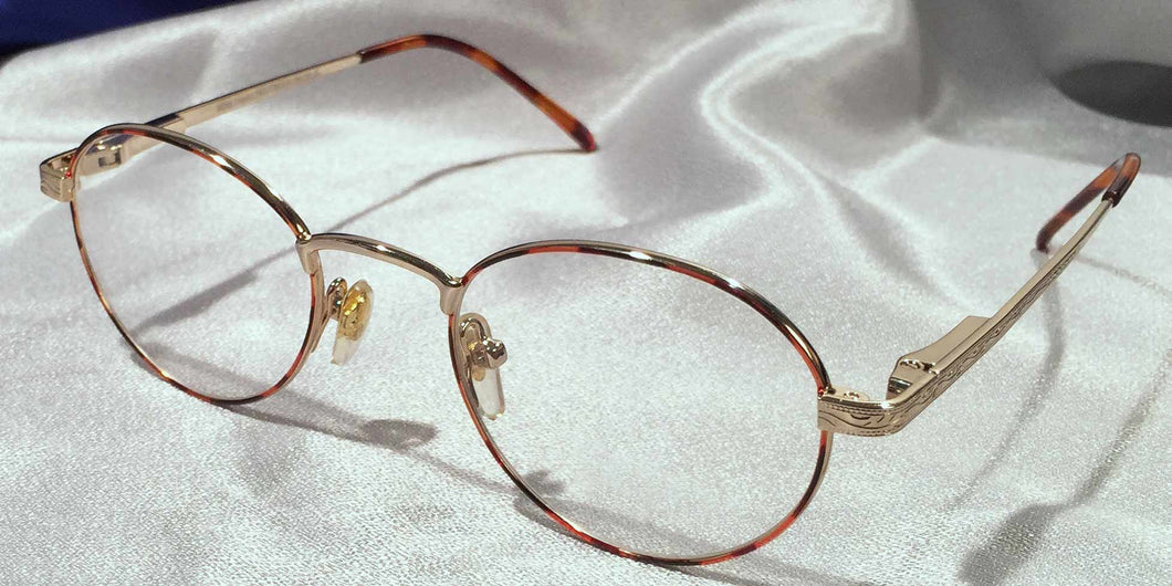 Andalusians full rim gold metal frames front view