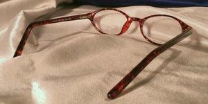 Back view of Bacchus cat-eye eyeglasses