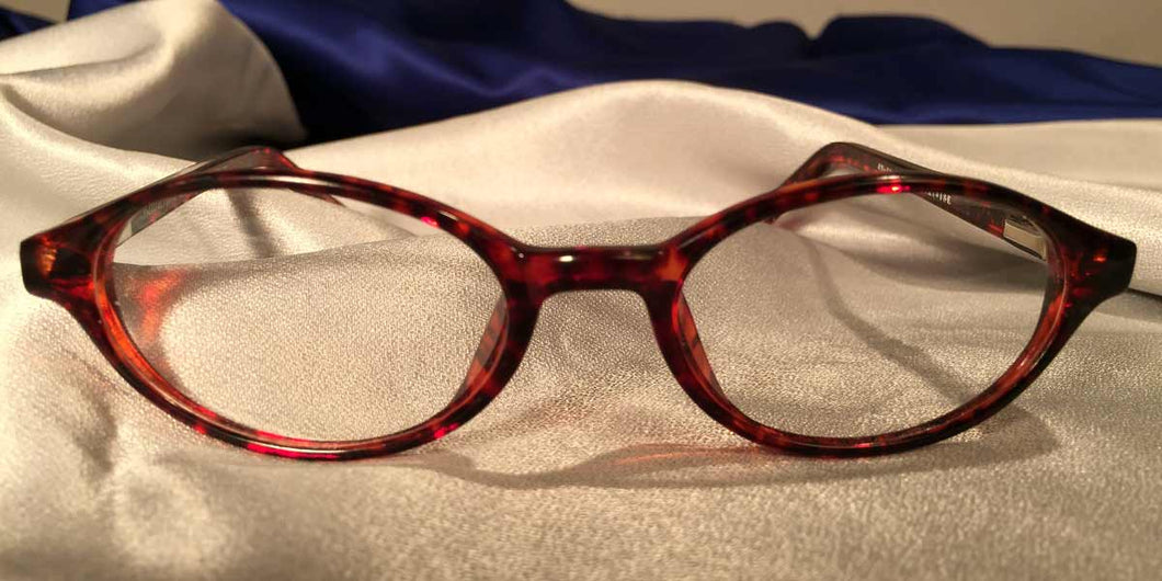 Front view of Bacchus cat-eye eyeglasses