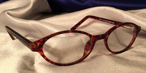 Side view of Bacchus cat-eye eyeglasses