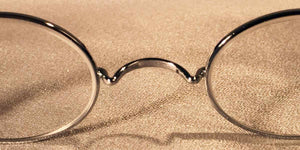 Battlefield McCallisters metal oval eyeglass frames detail view
