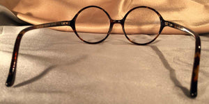 Bicycles Round Tortoise Shell Eyeglass Frames Back View