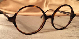 Side view of Bicycles round tortoise shell eyeglasses