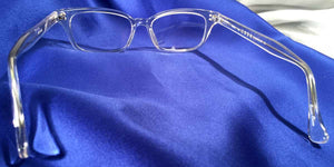 Back view of Candescents clear crystal eyeglasses