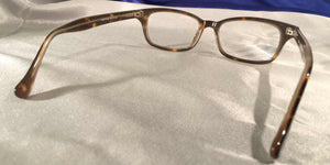 Back view of Candescents tortoise shell eyeglasses