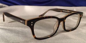 Candescents tortoise shell eyeglass frames three quarter view
