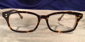 Front view of Candescents tortoise shell eyeglasses
