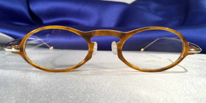Capistranos Tortoise Shell Oval Gold Temples Eyeglass Frames Front View