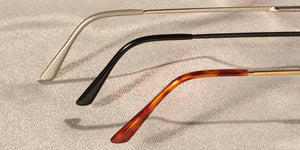 Crashers Rectangular Metal Eyeglass Frames Temple View