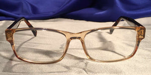 Front view of Diamants Ambre clear rim eyeglasses