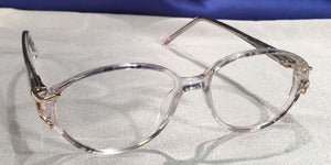 Side view of Duchess clear translucent eyeglasses