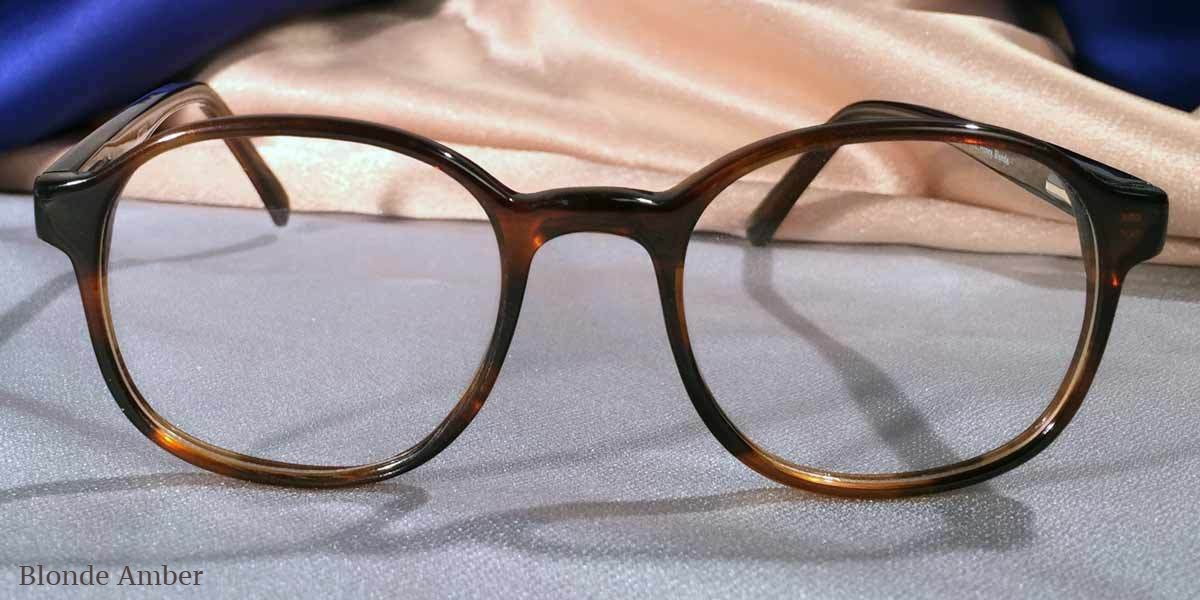Front View of Duckies amber tortoiseshell eyeglasses