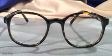 Front View of Duckies dark hue tortoiseshell eyeglasses