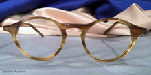 Front view of Governor's Poor Boys honey amber tortoiseshell eyeglasses
