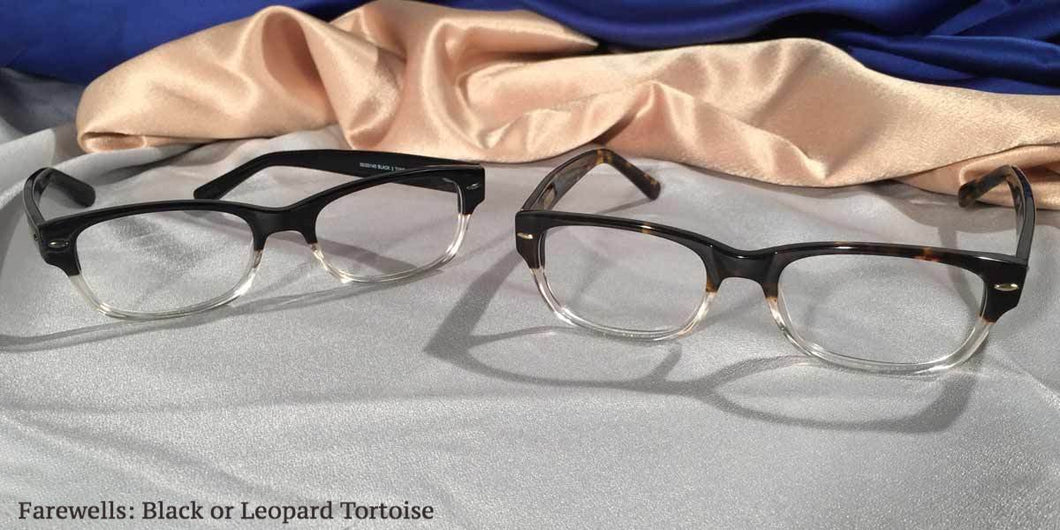 View of Hemingway Farewells eyeglasses set