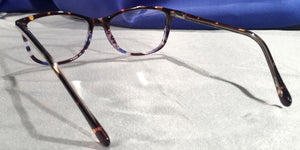 Montereys Blue and Brown Tortoise Shell Frames Back View