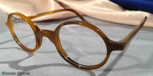 Peabody-Pierce #6 Blonde Streak Eyeglass Frames Three Quarter View