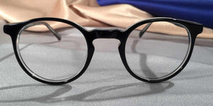 Front view of Peabody-Pierce #8 Black eyeglasses