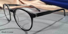 Peabody-Pierce #8 Black Crystal Eyeglass Frames Three Quarter View
