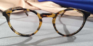 Front view of Peabody-Pierce #8 Demi Black eyeglasses