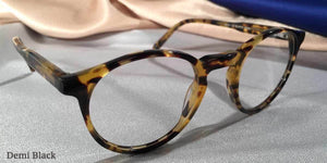Peabody-Pierce #8 Demi Black Eyeglass Frames Three Quarter View