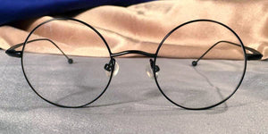 Signature Metal Rounds Black Eyeglass Frames Front View