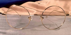 Front view of Signature Metal Rounds gold eyeglasses