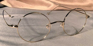 Side view of Signature Metal Rounds gold eyeglasses